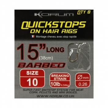 Hair Rigs Barbed With Quick Stops